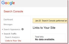 Data backlink di Google Webmaster Tools hilang error
