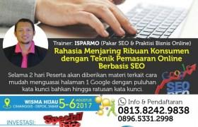 Pelatihan kursus digital marketing seo dasar di Depok Jakarta 5-6 Agustus 2017