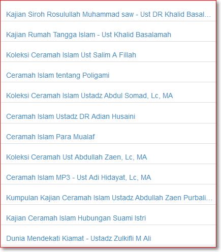 Download ceramah islam mp3 ustadz Abdul Somad dll