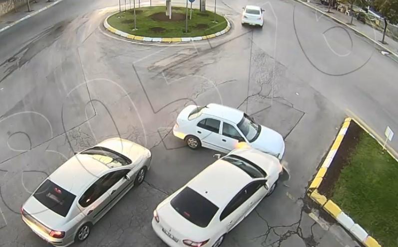 Isparta'da 2 kaza kameralara yansıdı