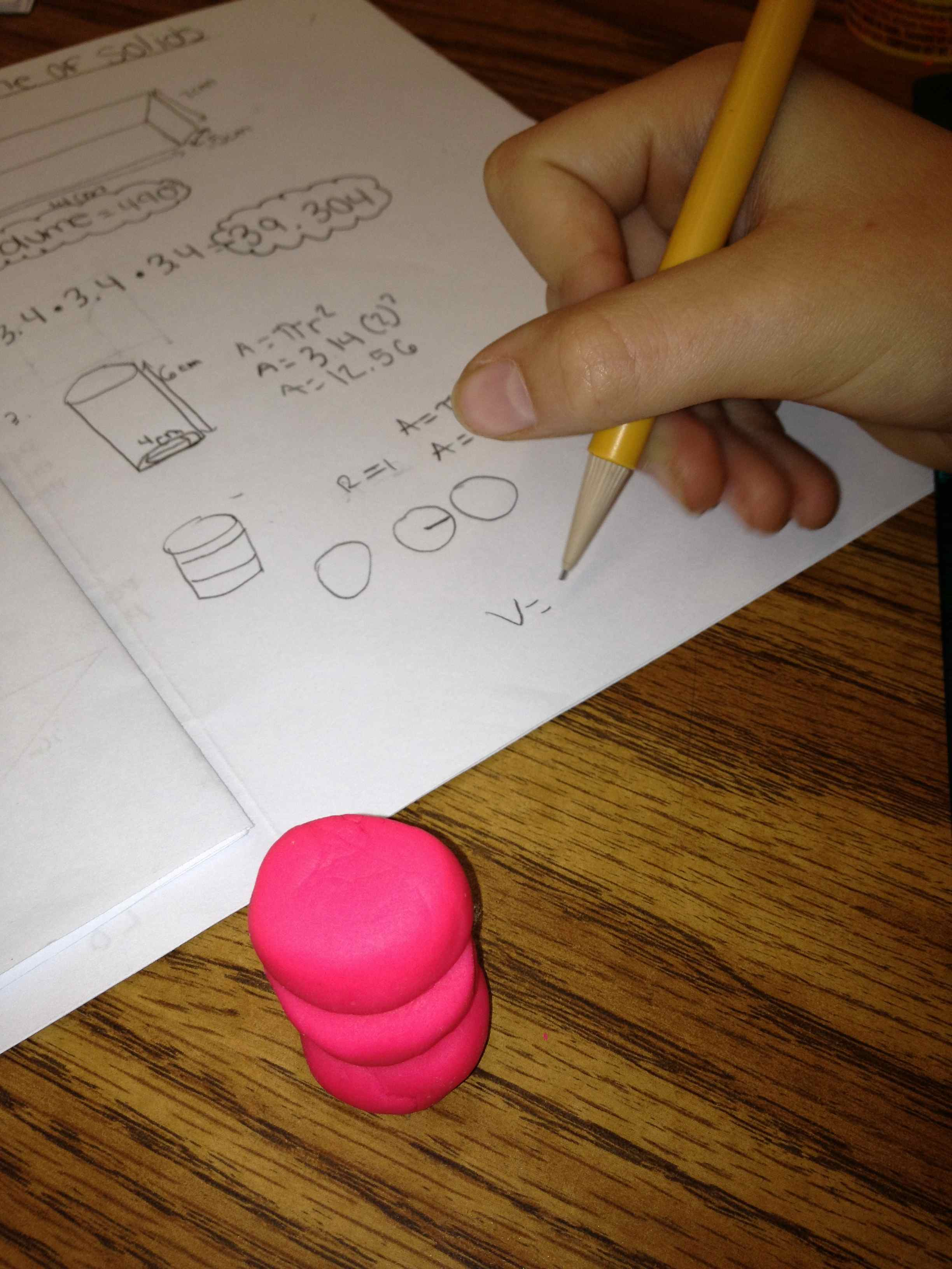 Volume Of 3d Shapes With Play Doh