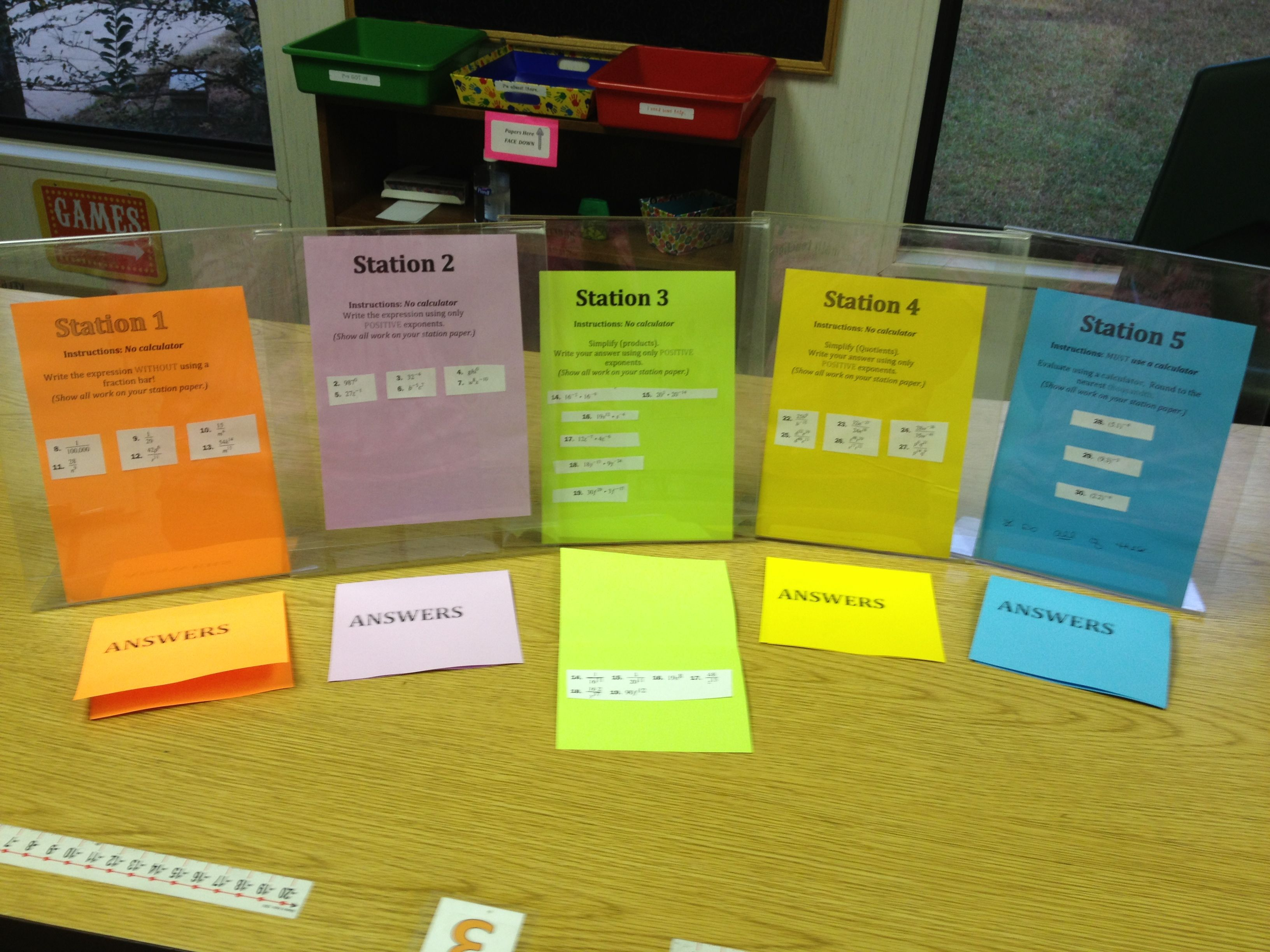 Quick And Easy Math Stations Aka Pimp Your Worksheet