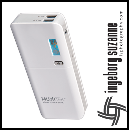 Product photography of a power bank for amazon.com