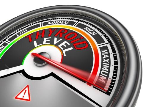 Thyroid level conceptual meter