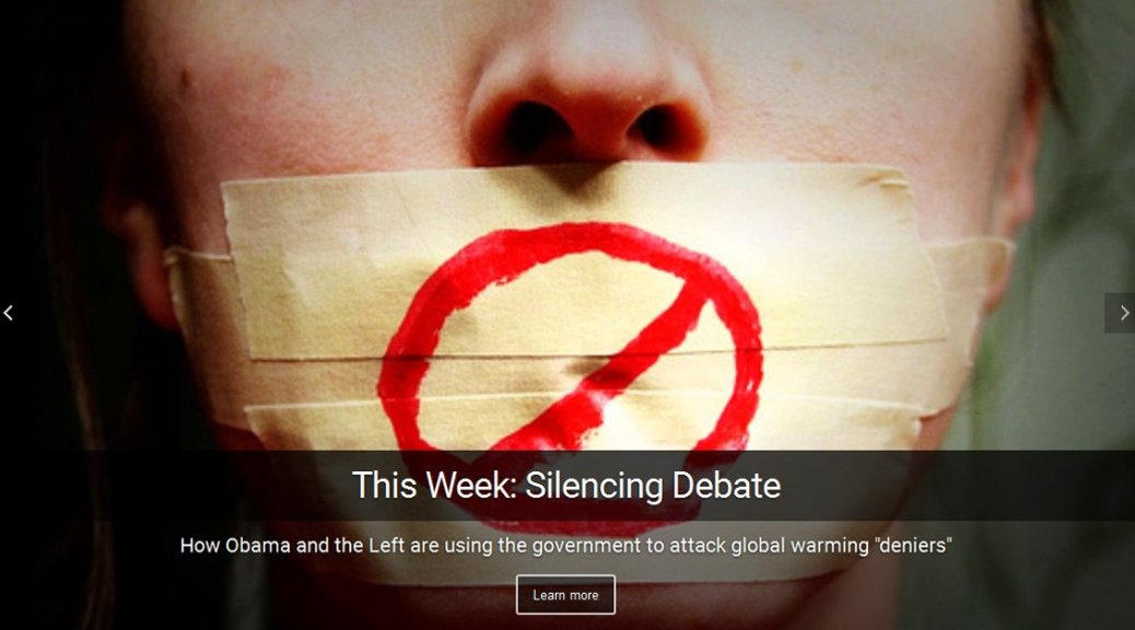 Obama's attack on free speech - how the Left is using the power of government to silence global warming deniers