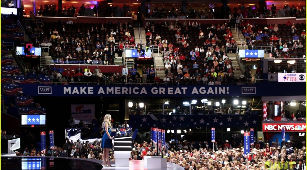 Tiffany Trump gives a speech at the 2016 National Republican Convention