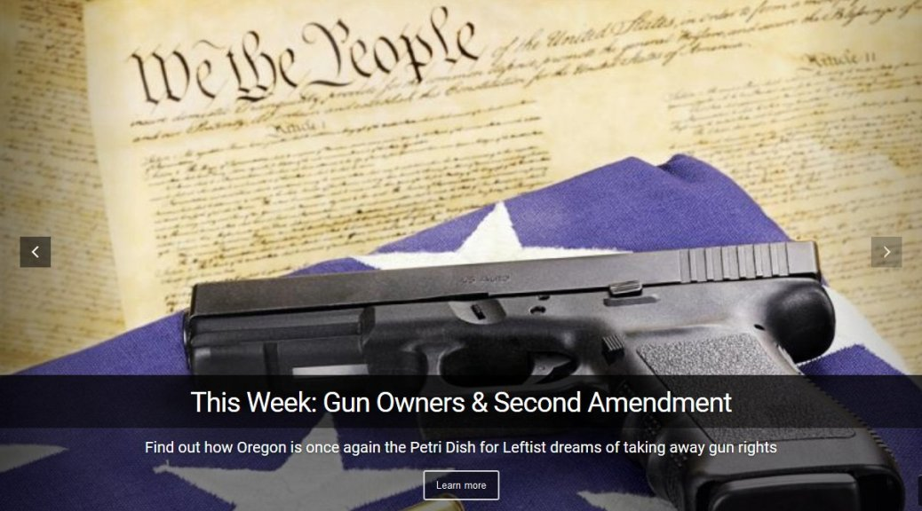 The I Spy Radio Show, exposing Oregon's gun confiscation bill and fight against 2nd Amendment Rights