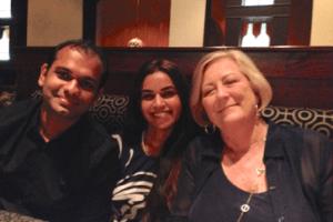 <center>Sneha & Shashank with Dr Susan Dellinger</center>