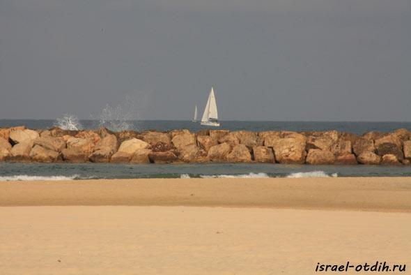 Пляжи в Израиле фото