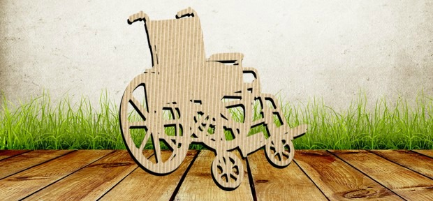 Cardboard wheelchair