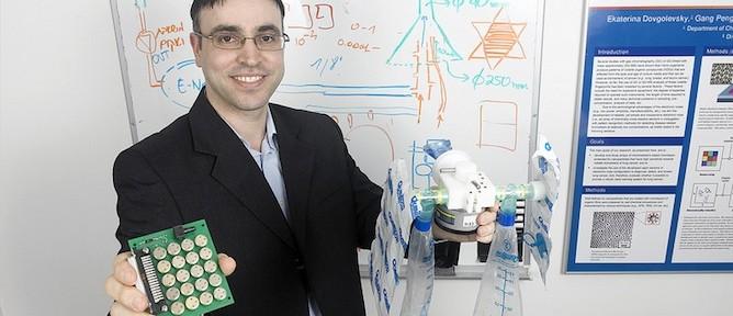 Prof. Hossam Haick with the Na-Nose prototype.