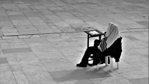 studying by kotel
