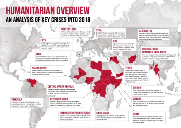 Humanitarian Crises 2017 Map