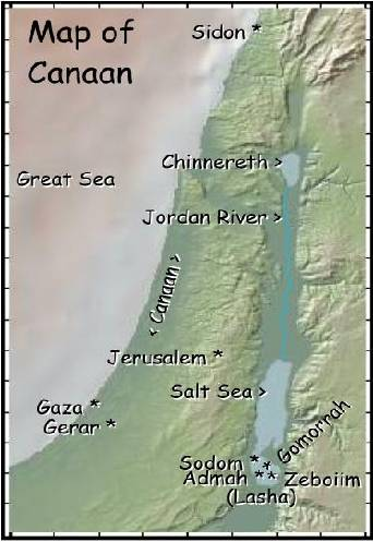 Fig 1.1: Historical map of Canaan