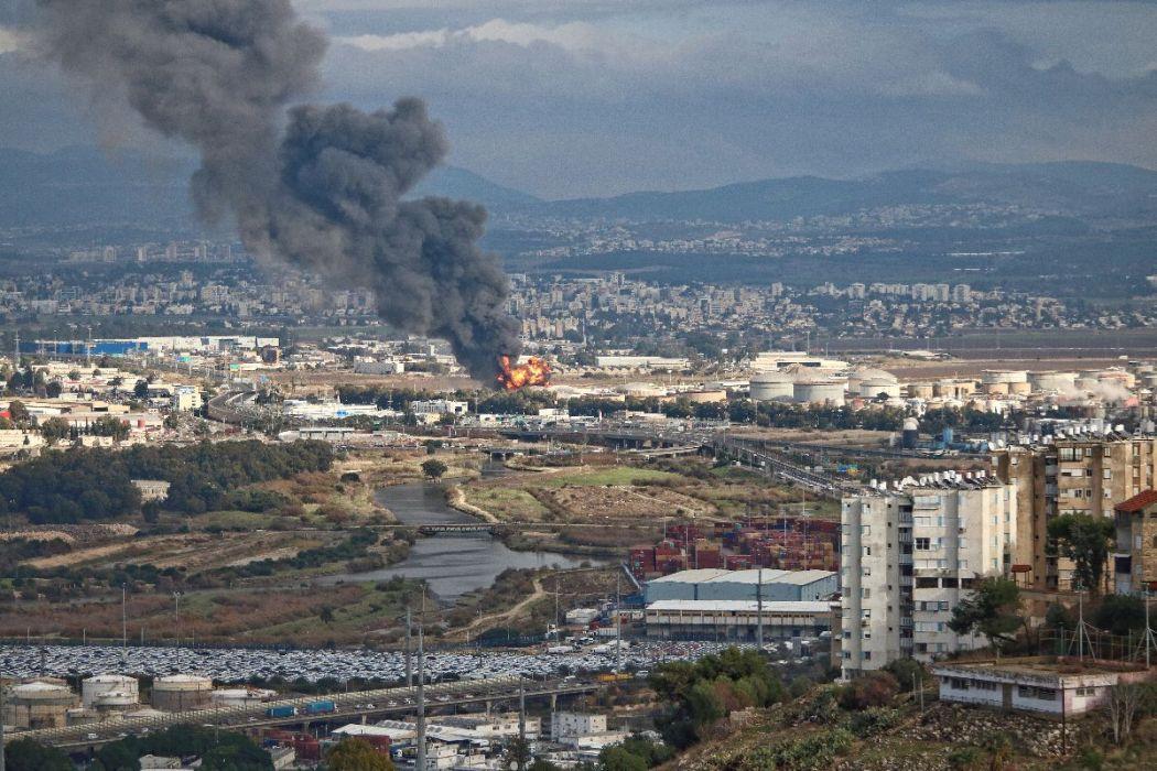 Fire in Haifa Refinery