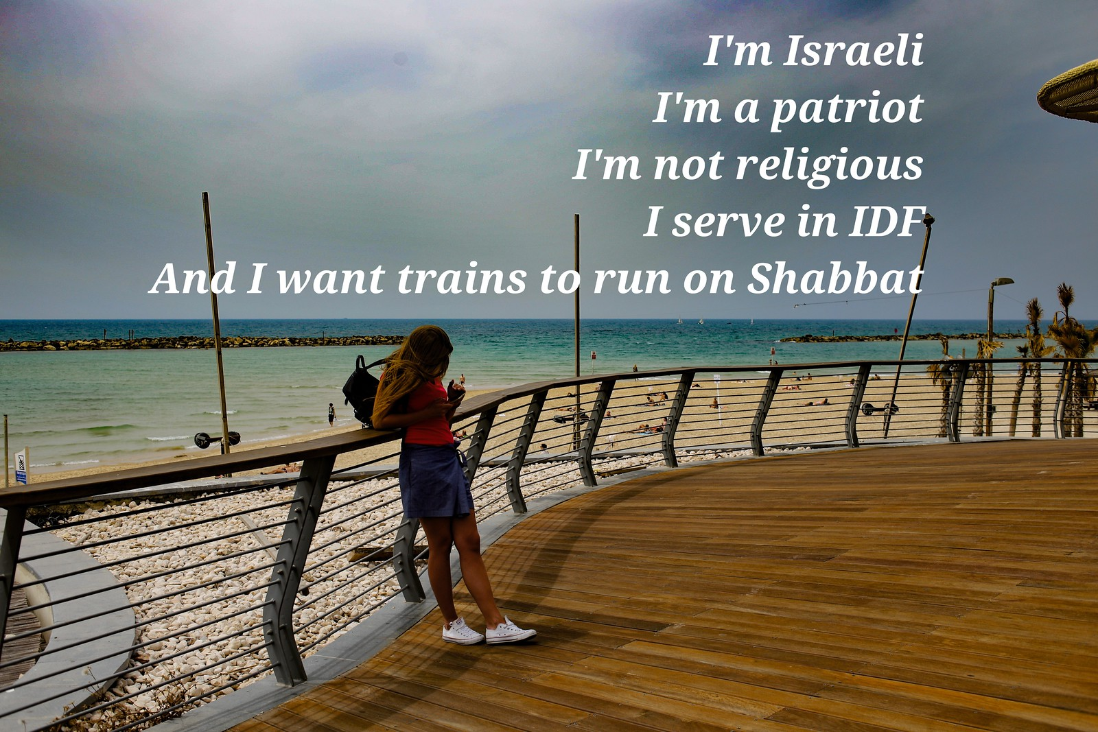 I want trains to run on Shabbat