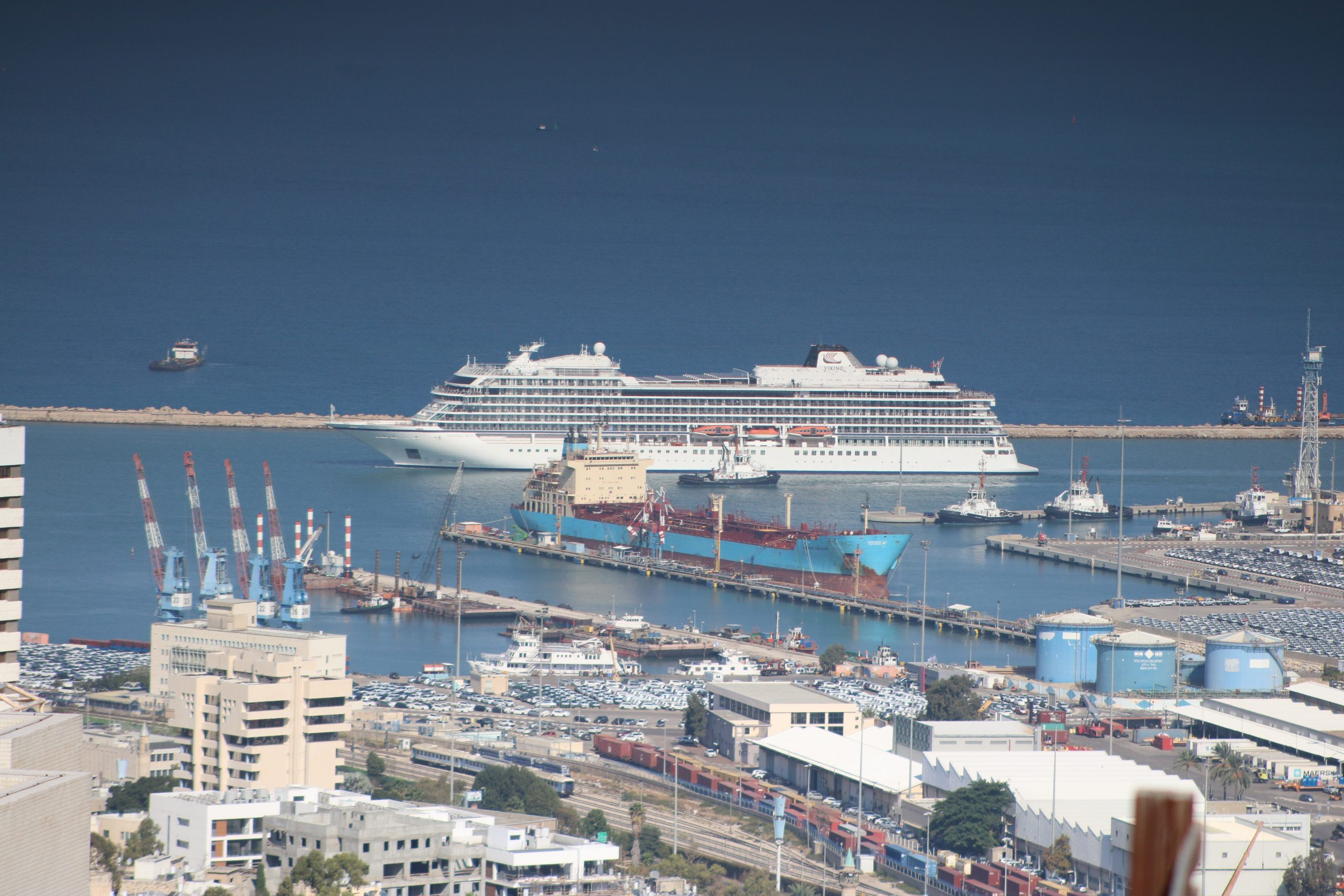 Cruise Ship Viking Sky Arrives to Haifa Port
