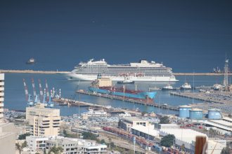Cruise Ship Viking Sky Arrives to Haifa Port