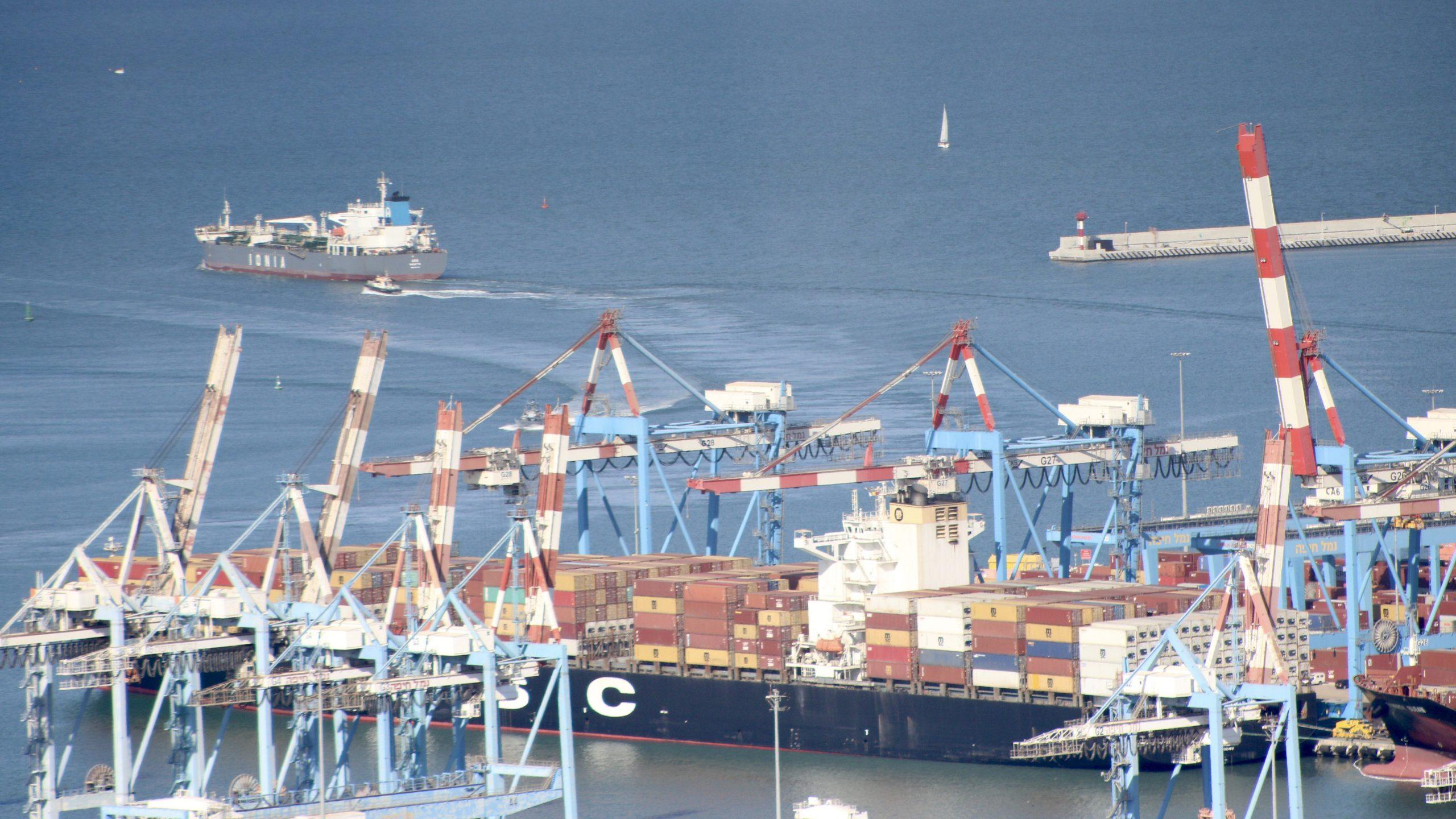 MSC Paris Brought Cargo from UAE to Haifa