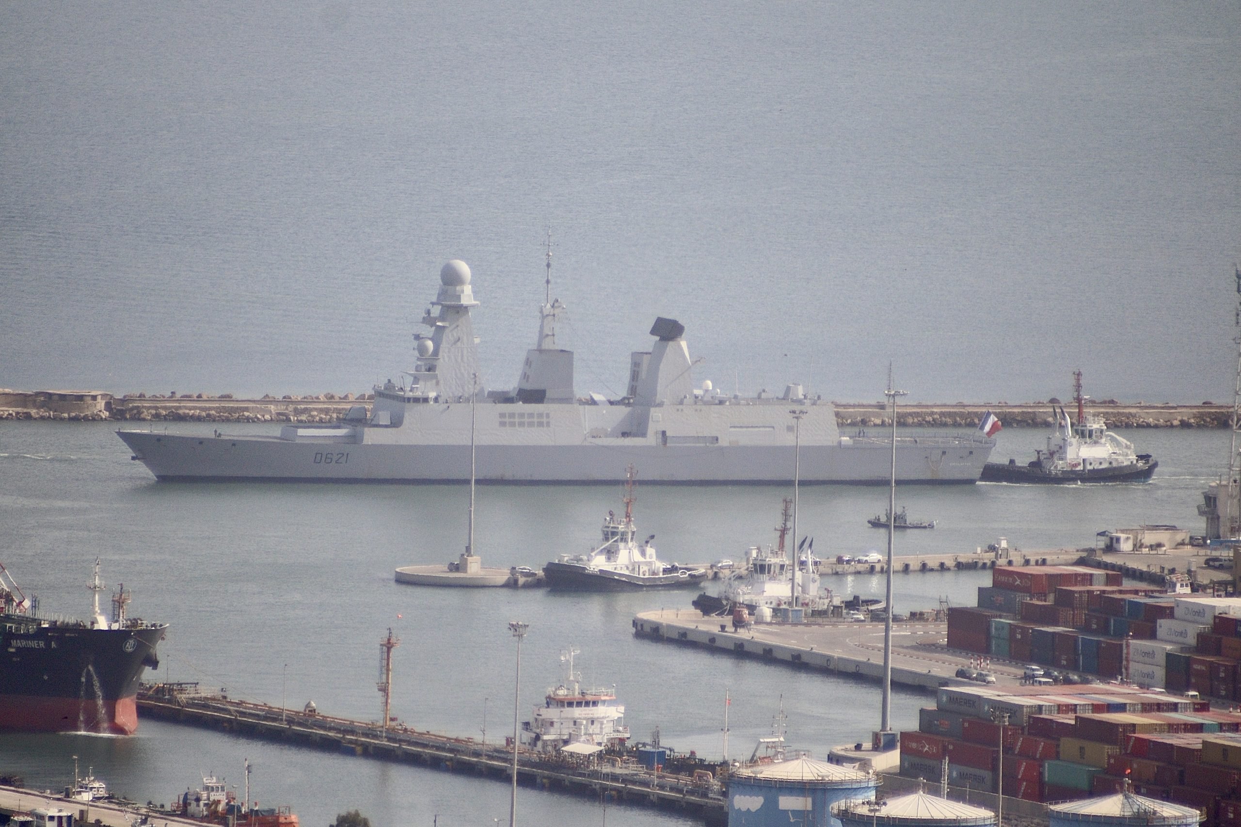 French frigate Chevalier Paul embarks in Haifa Port
