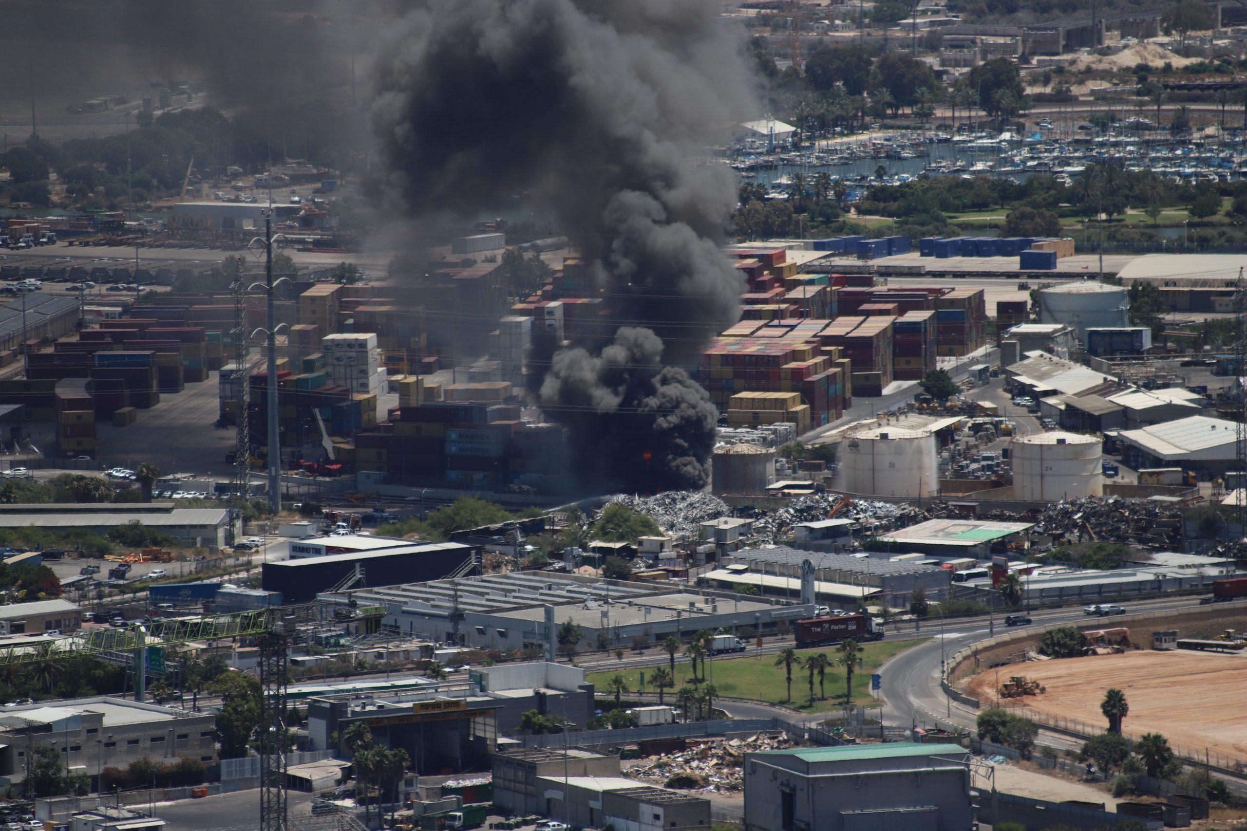 Fire in Haifa's Industrial Zone