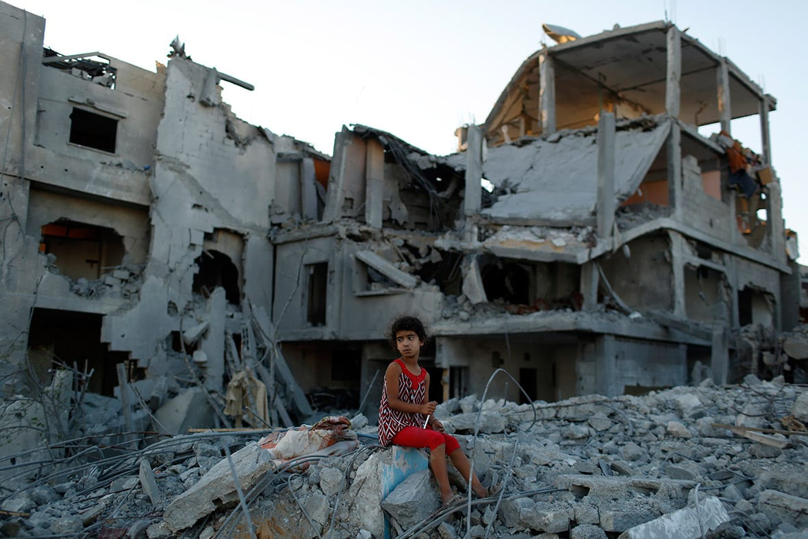 Gaza, 2014. Israel's invasions and shelling of Gaza killed and injured thousands of children and left multitudes homeless.
