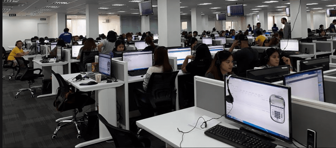 The call center at IBD Marketing Inc in the Philippines before the June 6 raid.  (Videos and additional photos below.)