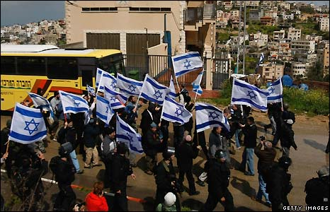 The trouble began during the march of about 100 far-right Israeli-Jewish activists through Umm al-Fahm.