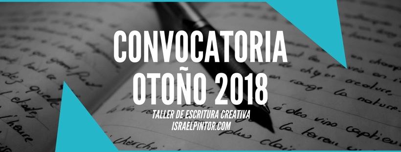 Convocatoria otoño 2018   Taller de Escritura Creativa de Israel Pintor en Sevilla