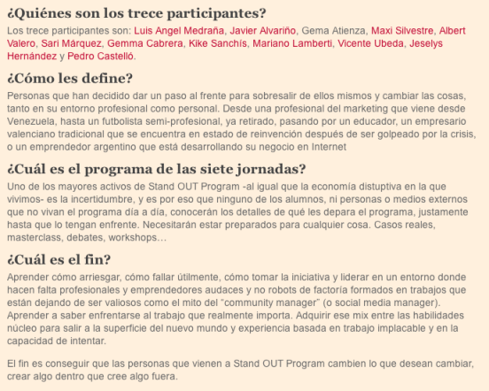 Finalistas Stand OUT Program