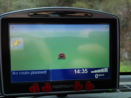 Satnav was no use most of the time
