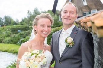 Bruidspaar bij molen