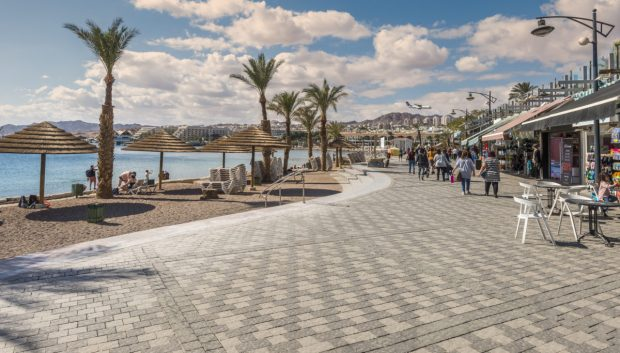 EILAT, ISRAEL - Central promenade in Eilat