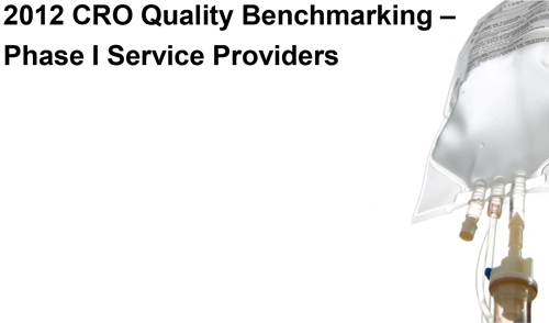 Report cover for CRO Quality Benchmarking – Phase I Service Providers (4th edition)