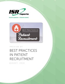 Report cover for Best Practices in Patient Recruitment