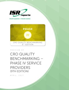 Report cover for CRO Quality Benchmarking – Phase IV Service Providers (9th Edition)