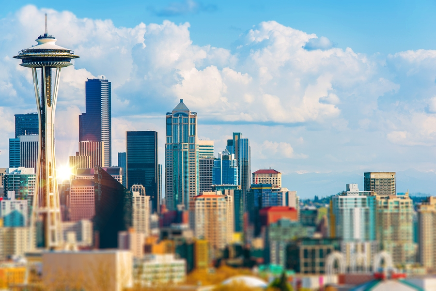 Seattle Cityscape. Seattle Washington Downtown. United States.