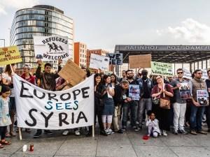 Berlin pro-refugee demonstration