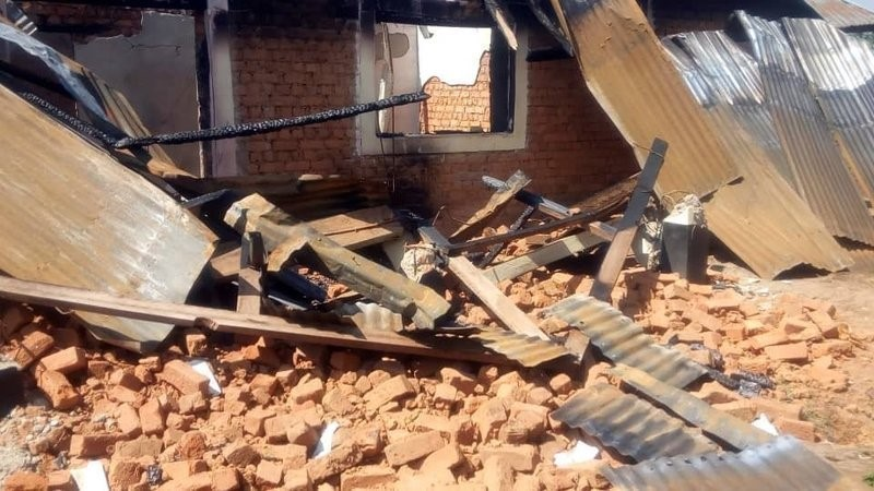 A demolished Bayamulenge home