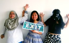 Syazwina, Atiqah and Aisha caught in the act