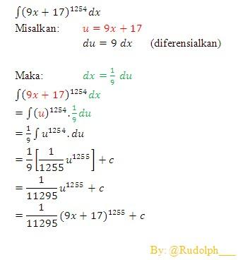 Integral sebagai limit jumlah riemann. Soal Dan Pembahasan Metode Substitusi Integral Fungsi Aljabar 1 5 Istana Mengajar