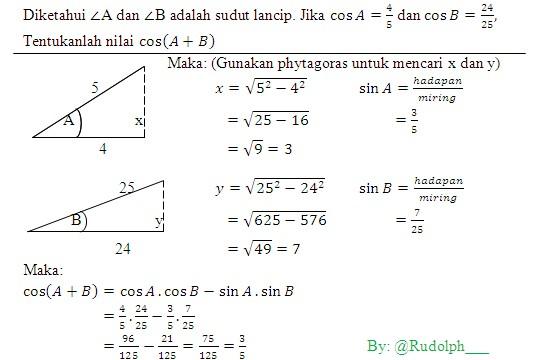 Contoh soal dan jawaban trigonometri kelas 10 smk. Soal Dan Pembahasan Trigonometri Jumlah Dan Selisih Dua Sudut Istana Mengajar