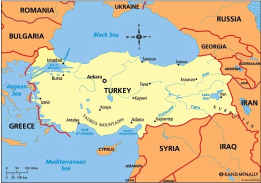Image result for map of turkey