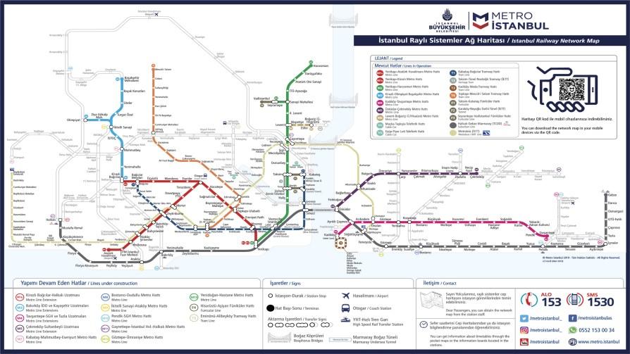 İstanbul Metro Ağları Haritası