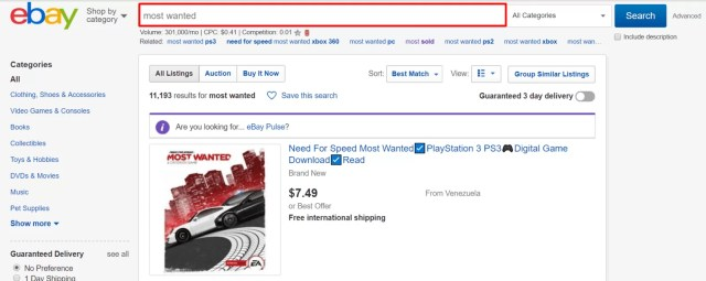 search for drop shipping suppliers on ebay