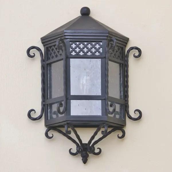 7022 1 spanish revival wrought iron pocket wall light