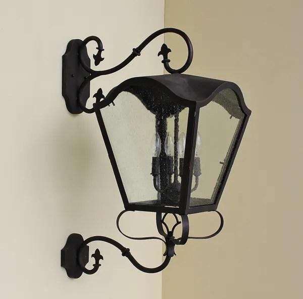 7279 4 spanish mediterranean style wrought iron outdoor light