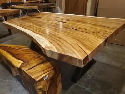 table bois de rose gris live edge 108