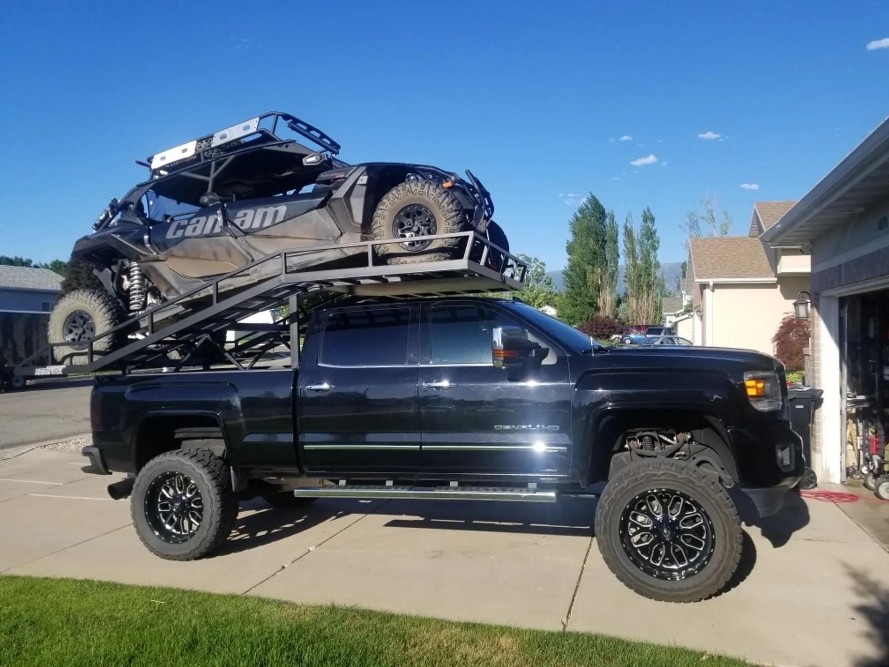 ramptek x3 max standard bed utv truck rack