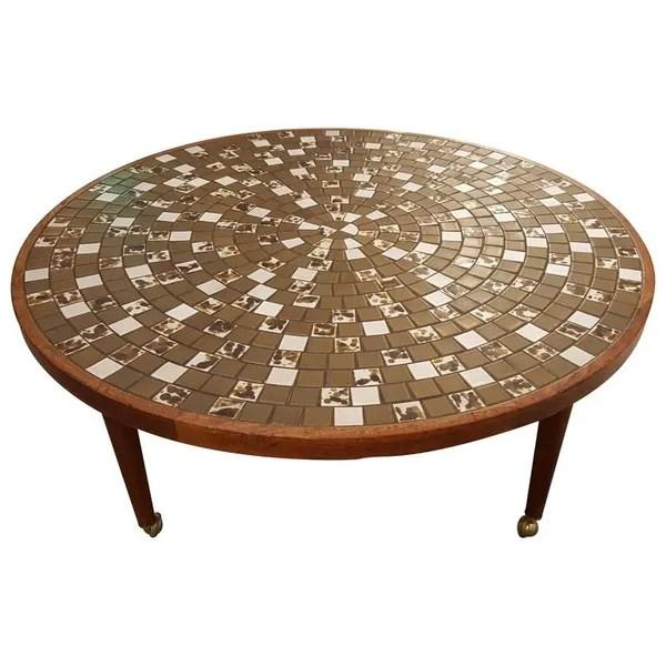 circular mosaic tile coffee table by gordon jane martz